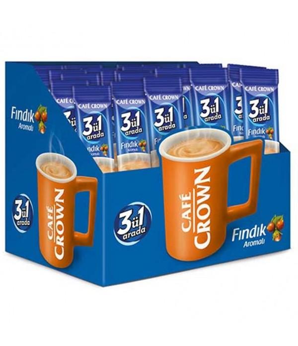 Cafe Crown 3`Ü Bir Arada Fındıklı 24 Lü Paket