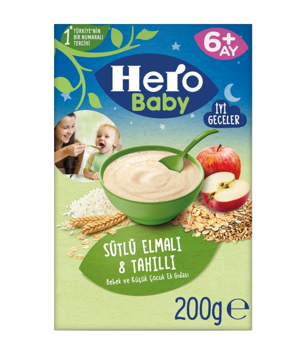 Hero  Sütlü 8 Tahıllı Elma 200 Gr