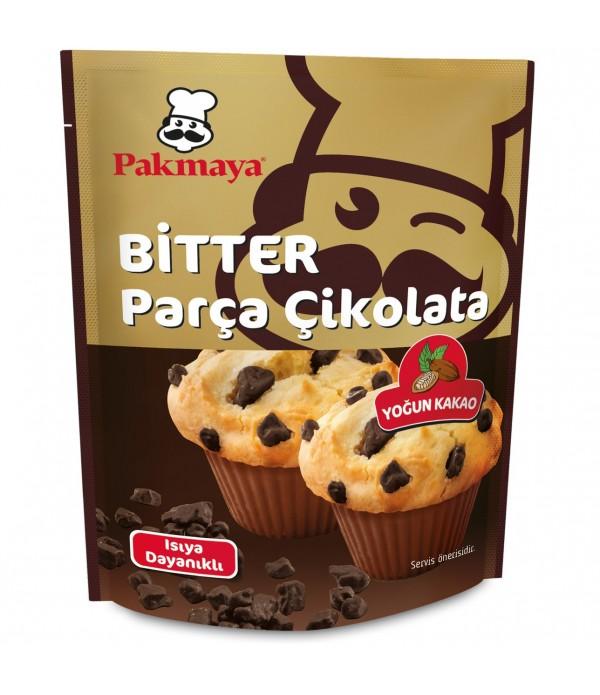 Pakmaya Bitter Parça Çikolata  70 Gr
