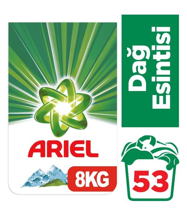Ariel 8 kg Toz Çamaşır Deterjanı Dağ Esintisi...