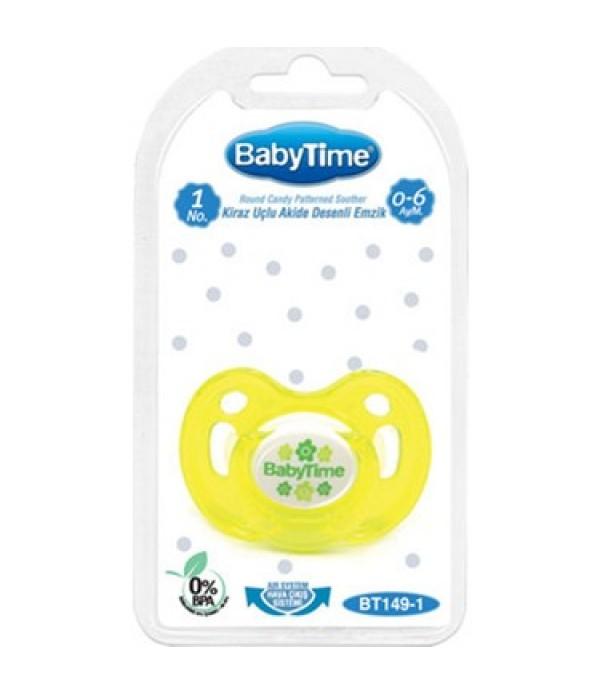 Babytime Damaklı Mat Emzik Sarı No:1