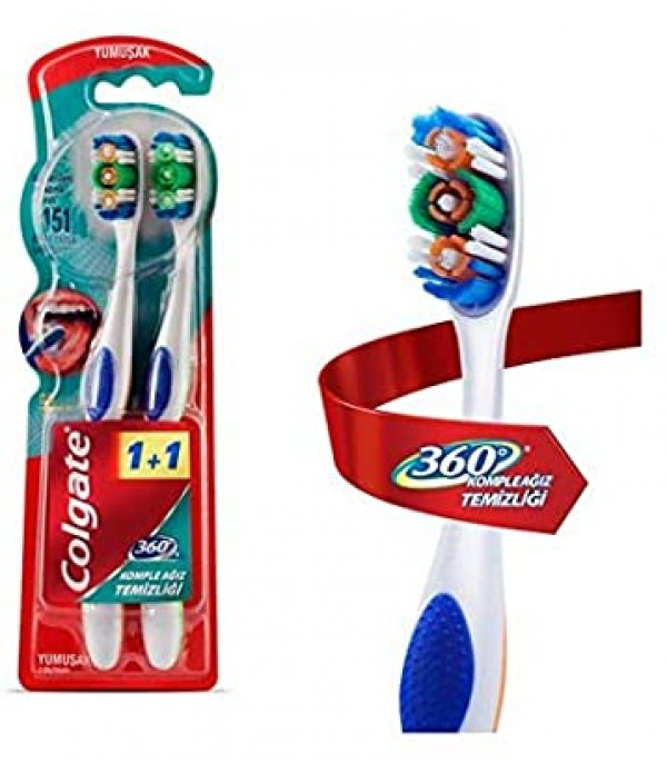 Colgate 360 Medium 1+1 Diş Fırçası
