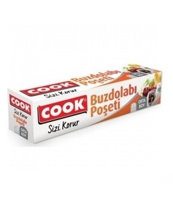 Cook Buzdolabı Poşeti Orta Boy 20'li