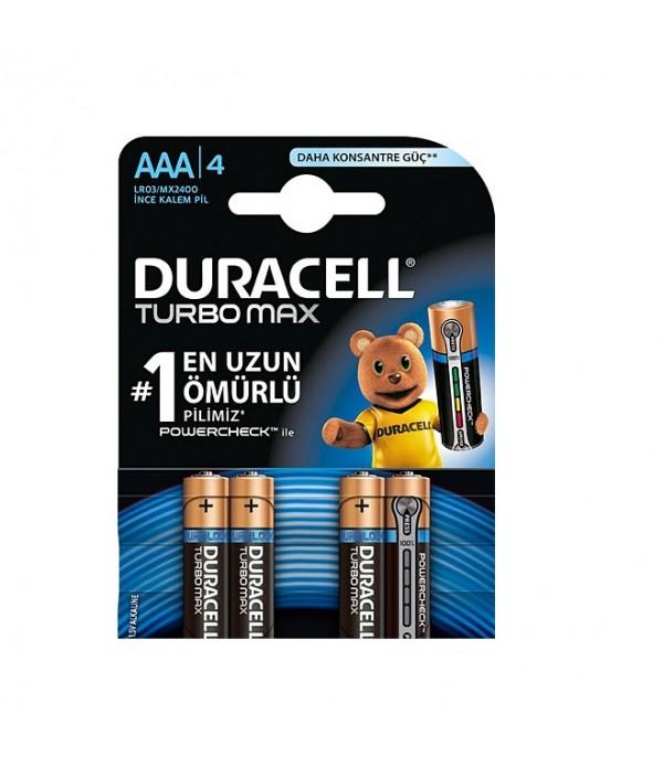 Duracell Turbo Max AAA 4'lü Pil