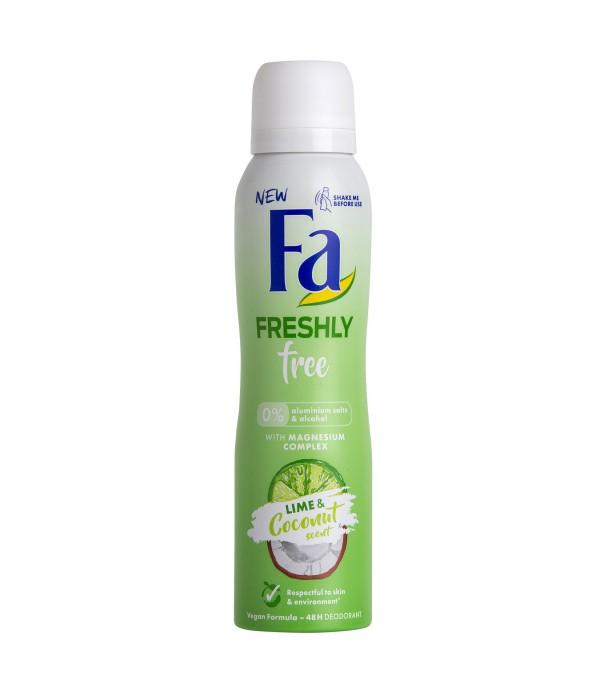 Fa Freshly Free Lime & Coconut Deodorant 150 M...