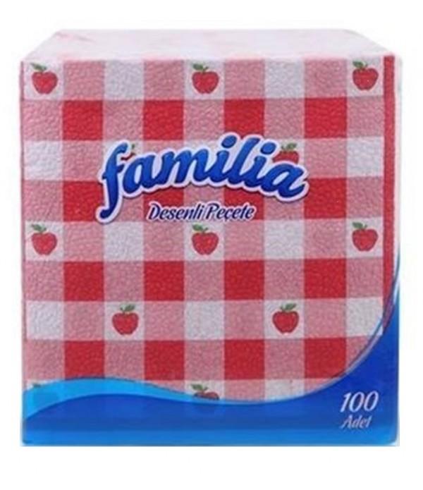 Familia Desenli Peçete 100 Lü