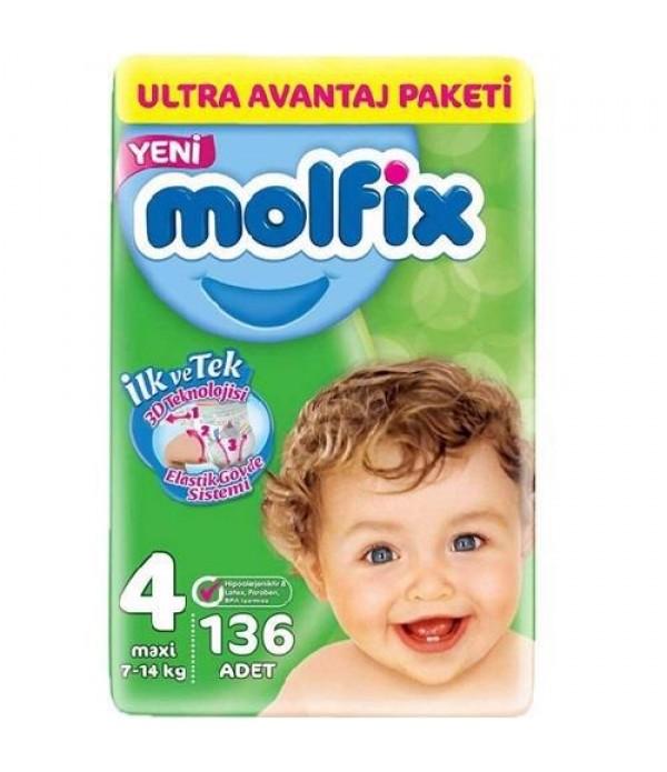 Molfix Bebek Bezi 4 Beden 136 adet