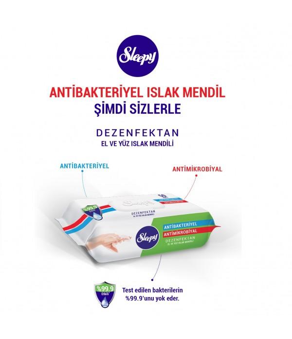 Sleepy Antibakteriyel Dezenfektan El ve Yüz Islak...