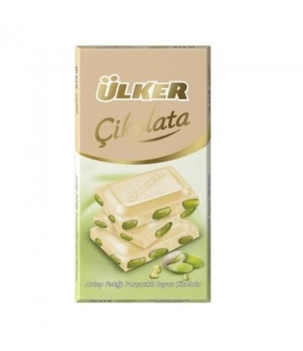 Ülker Antep Fıstıklı Beyaz Çikolata 80 gr