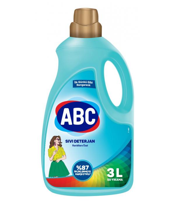 ABC Sıvı Matik 3 lt Renklilere Özel 50 Yıkama